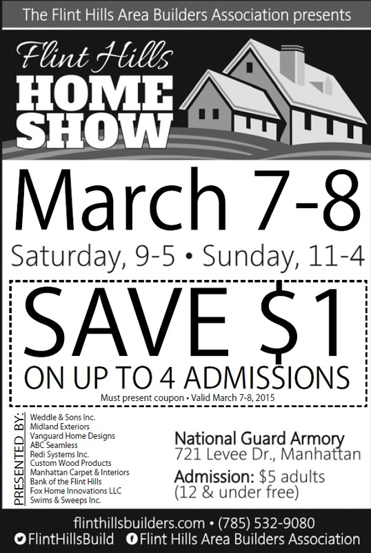 Home remodeling trade show manhattan ks march 2015 vanguard Home design and remodeling show promo code