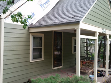 In Progress: New Siding and Gutters