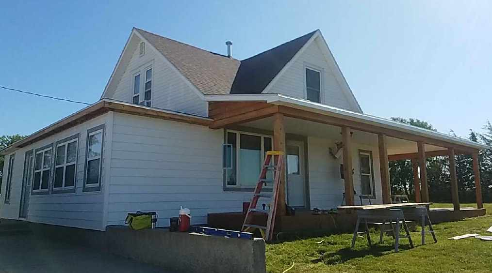 New Vinyl Siding Job Being Worked On
