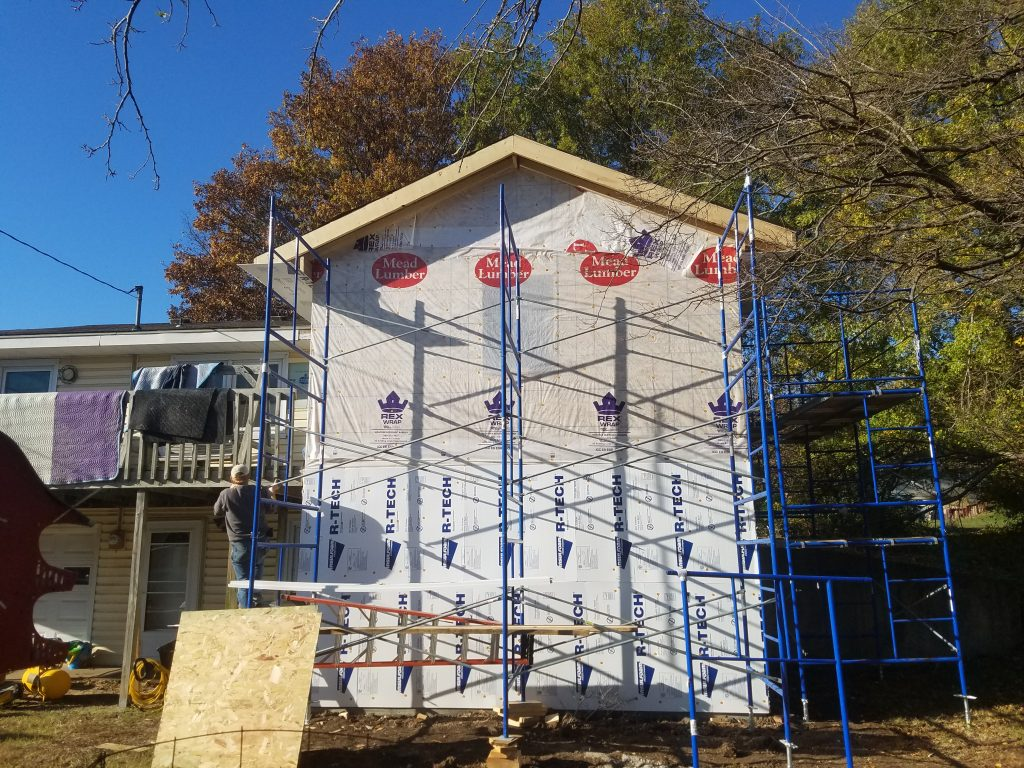 House Wrap and Siding Installation on Addition